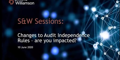 S&W Sessions Audit Independence Webinar